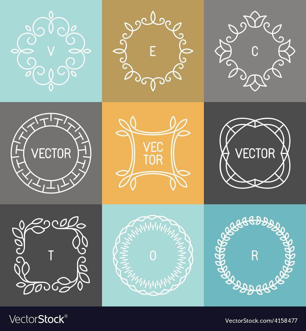 Set of trendy logo design elements vector | Price: 1 Credit (USD $1)