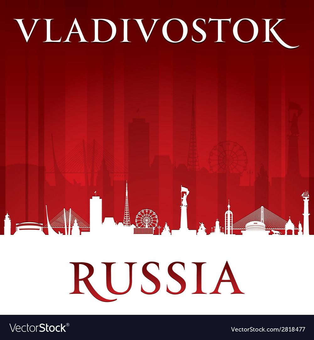 Vladivostok russia city skyline silhouette vector | Price: 1 Credit (USD $1)