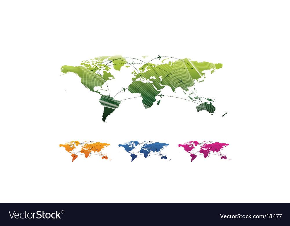 World  travel map vector | Price: 1 Credit (USD $1)