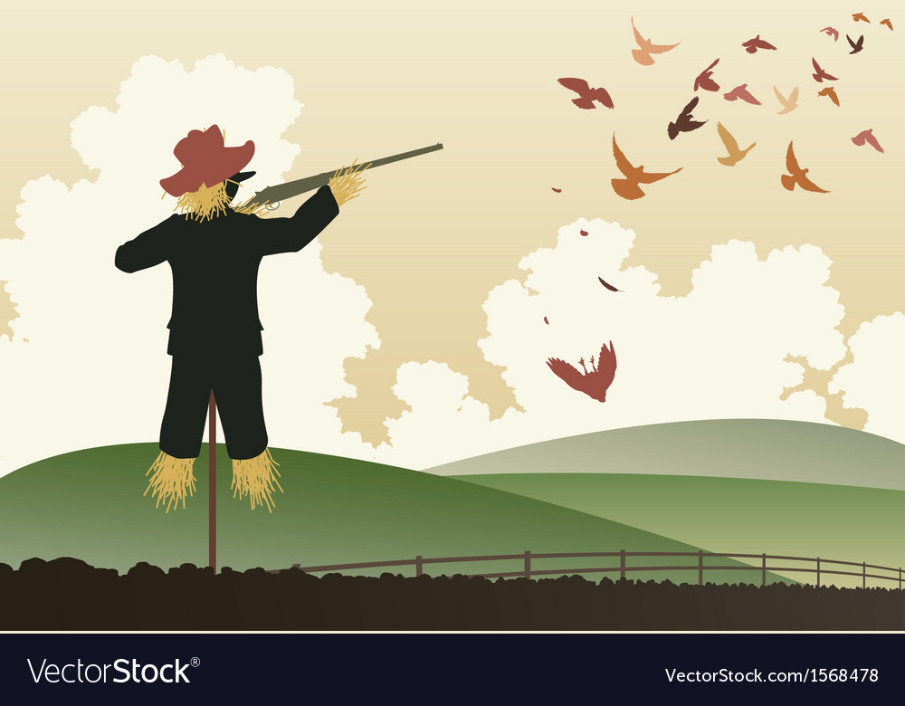 Armed scarecrow vector | Price: 1 Credit (USD $1)