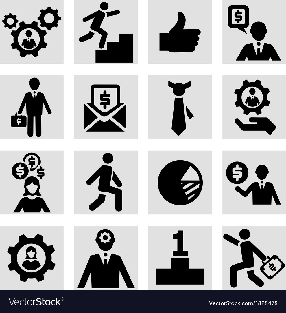 Business success icons set vector | Price: 1 Credit (USD $1)