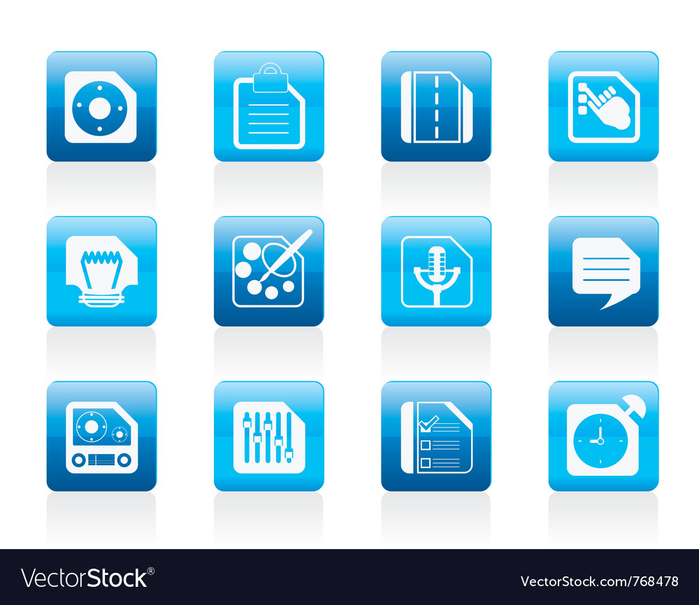 Computer and internet icons vector | Price: 1 Credit (USD $1)