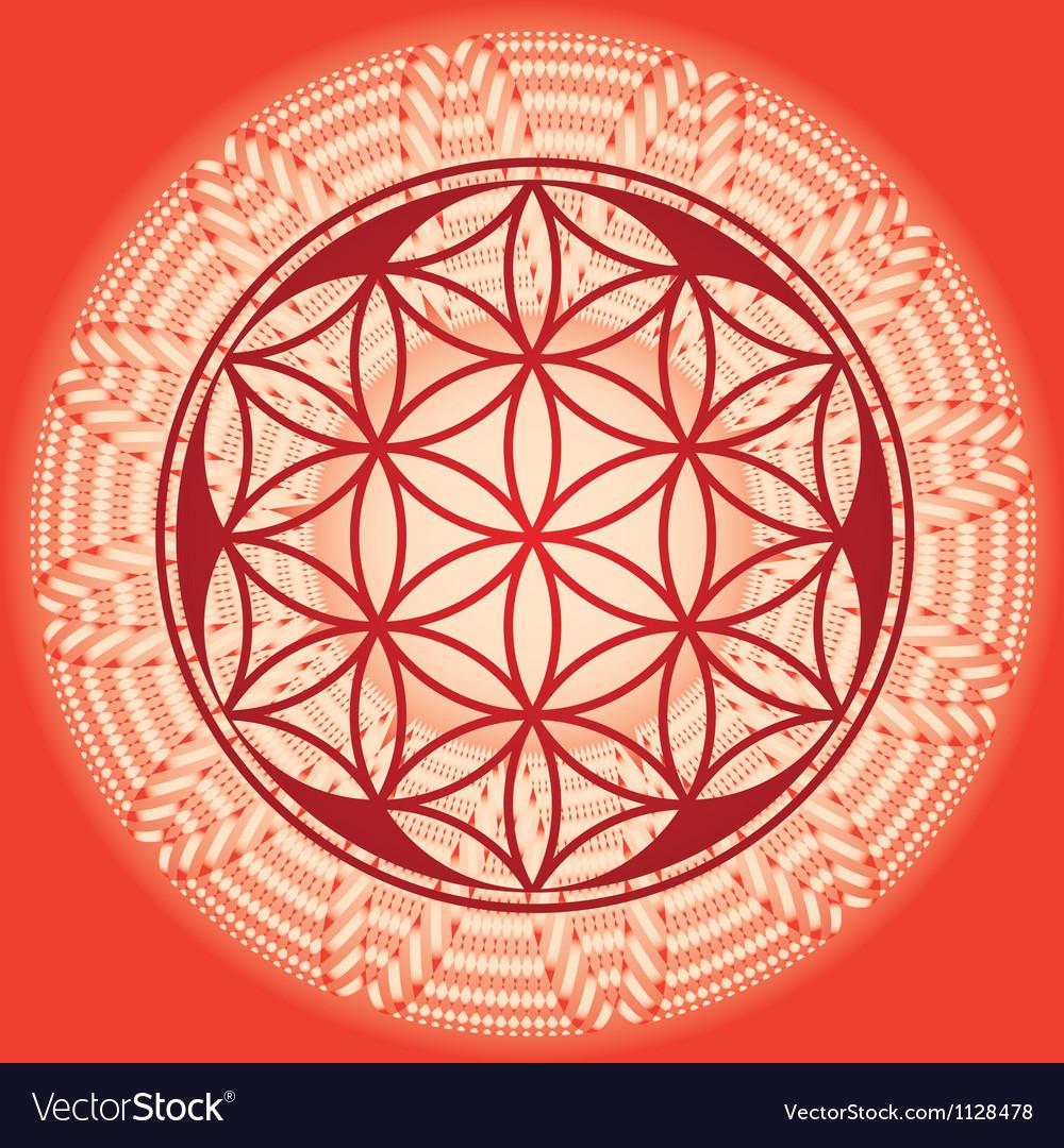 Flower of life seed mandala vector | Price: 1 Credit (USD $1)