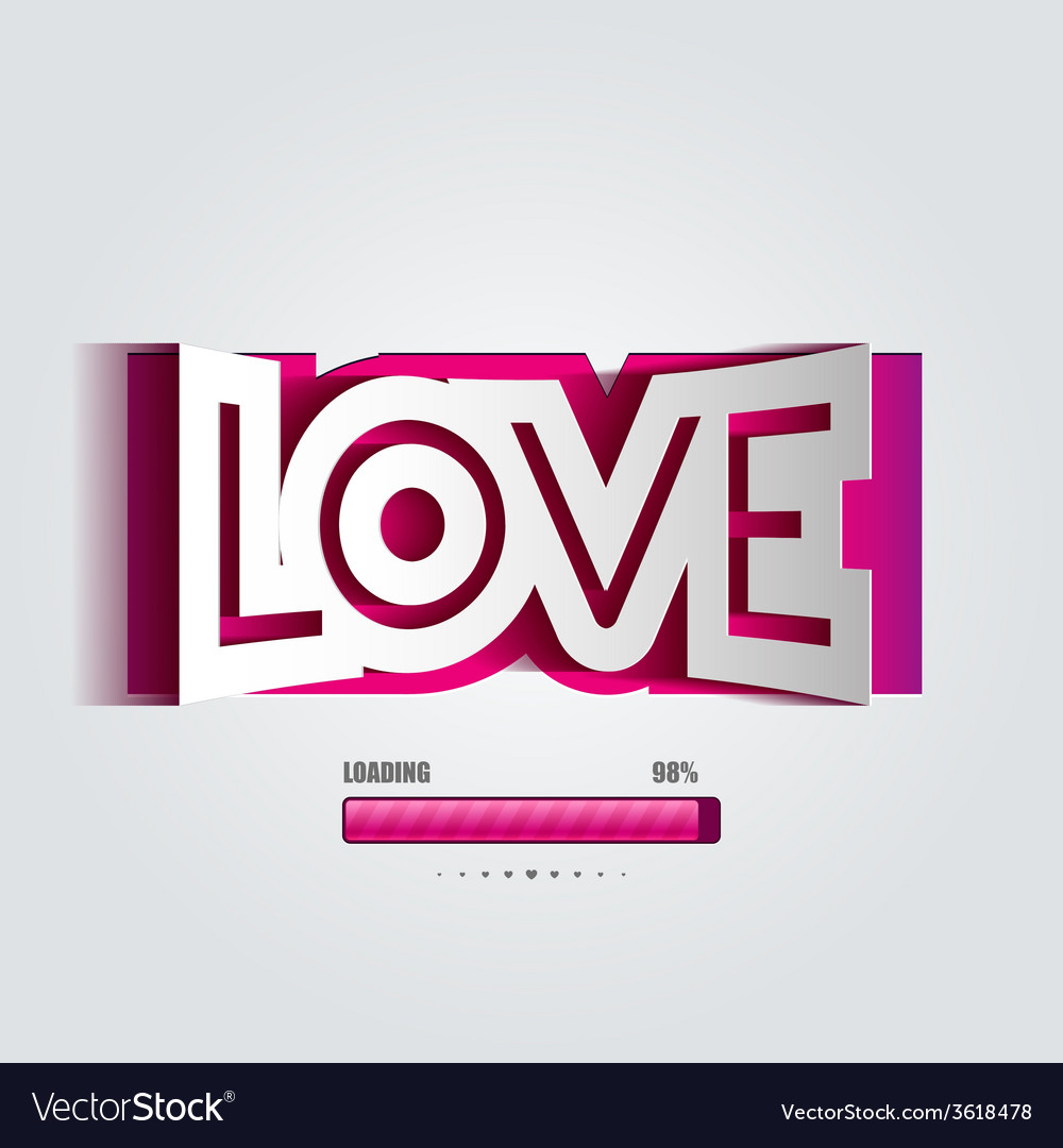 Paper curved convex inscription love vector   Price: 1 Credit (USD $1)