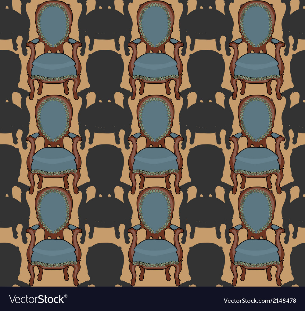 Pattern with armchairs vector   Price: 1 Credit (USD $1)