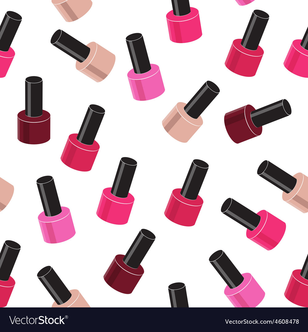 Realistic nail polish seamless pattern background vector | Price: 1 Credit (USD $1)