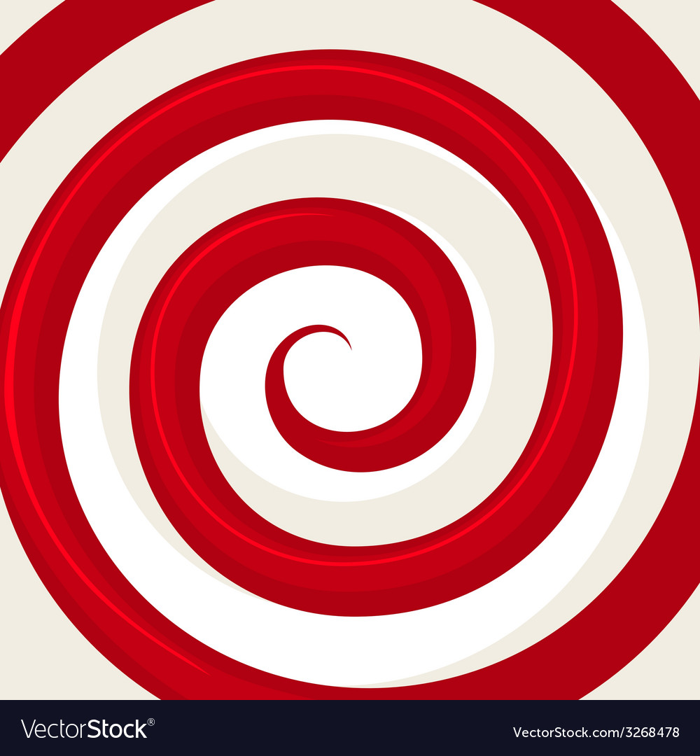 Red hypnosis spiral pattern optical vector | Price: 1 Credit (USD $1)