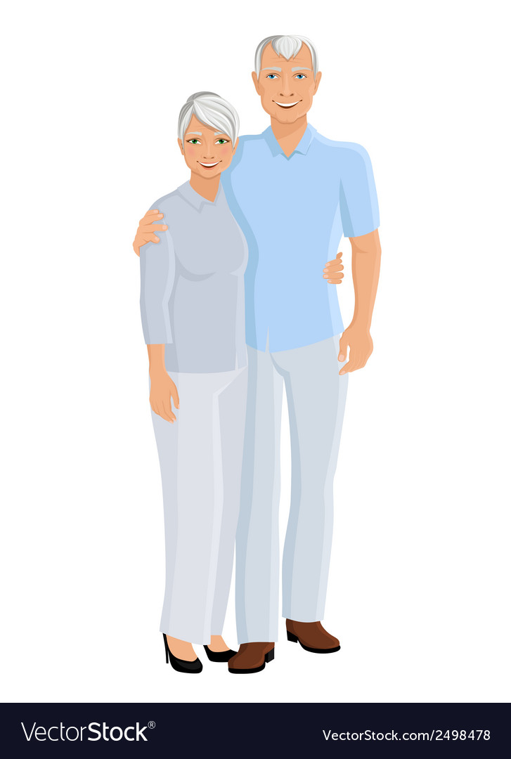 Senior couple full length vector | Price: 1 Credit (USD $1)
