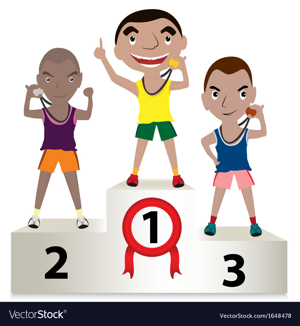 Winner sport mens vector | Price: 1 Credit (USD $1)