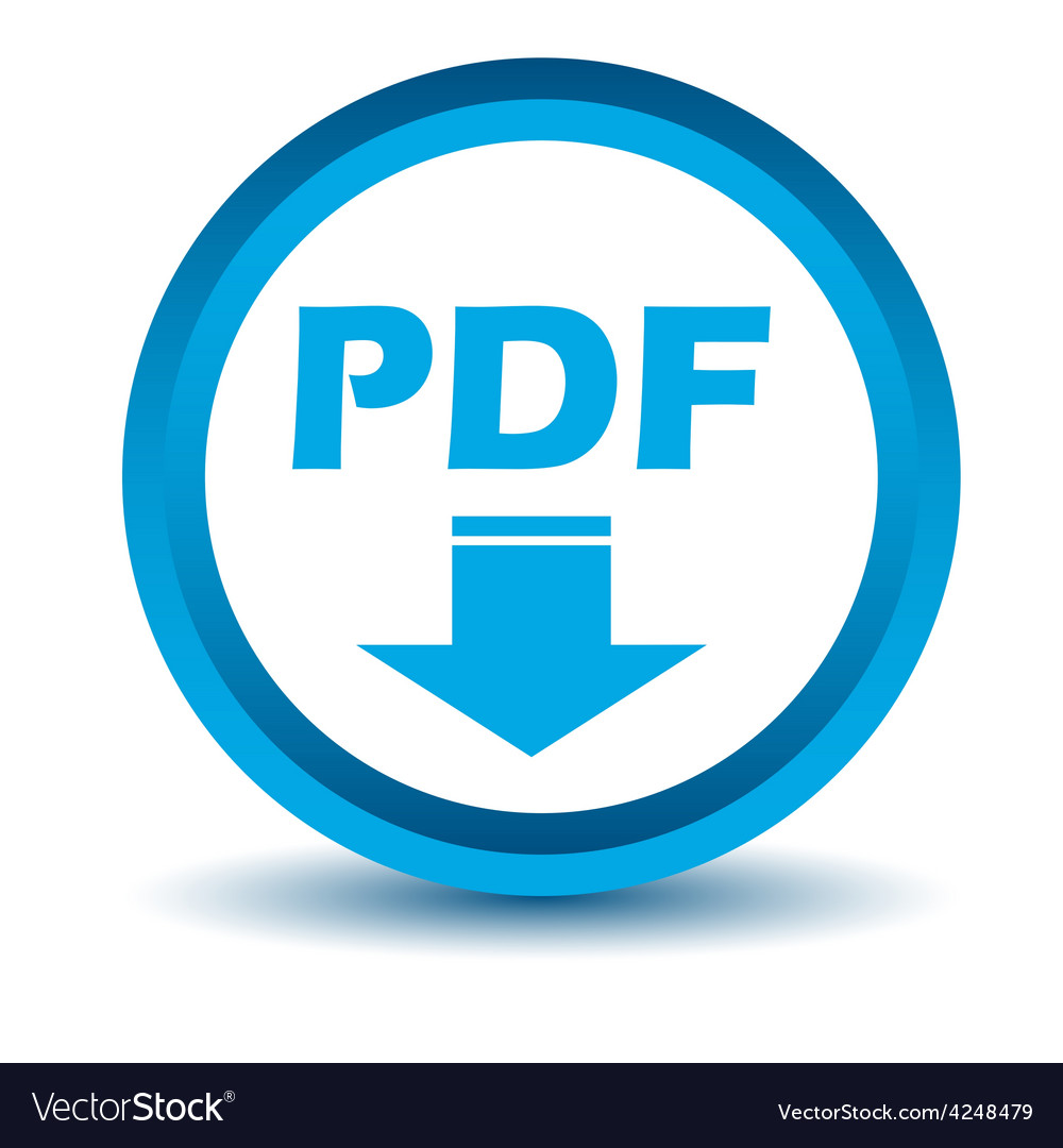 Blue pdf icon vector | Price: 1 Credit (USD $1)