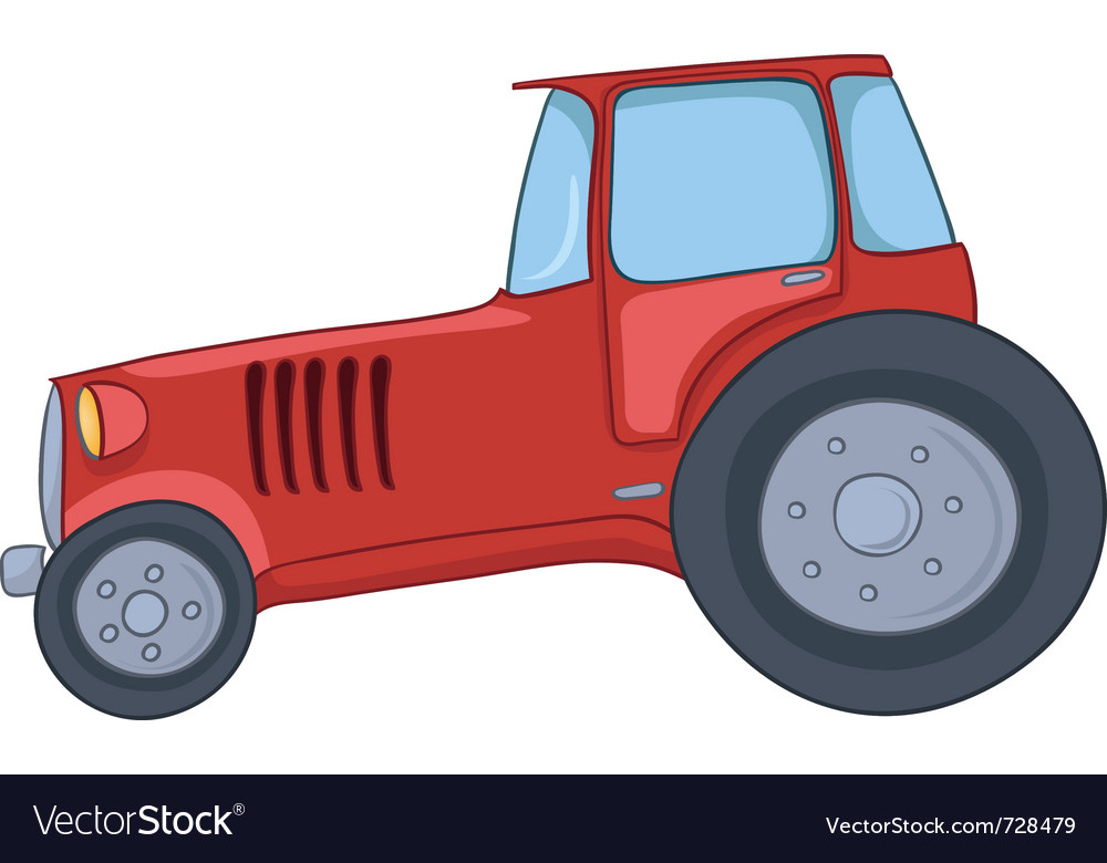 Cartoon tractor vector | Price: 1 Credit (USD $1)