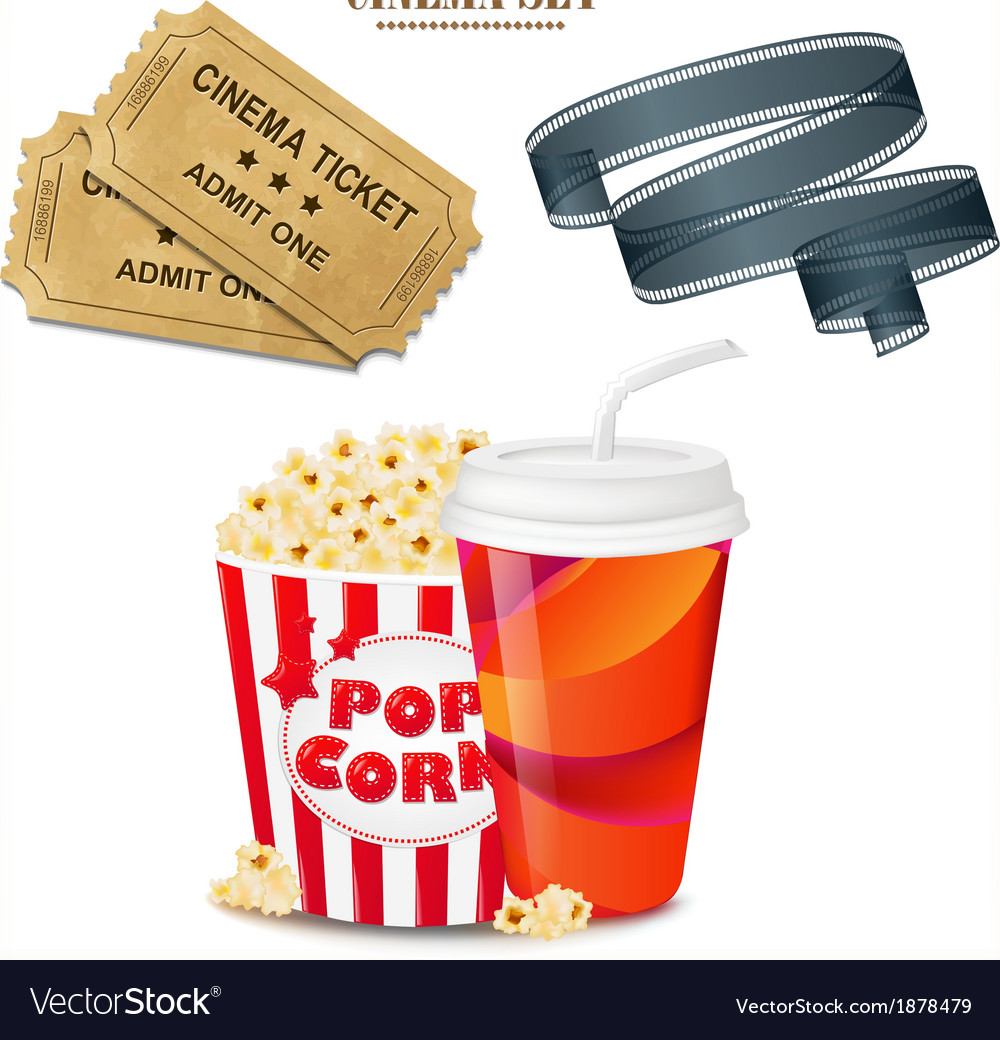 Cinema set vector | Price: 1 Credit (USD $1)