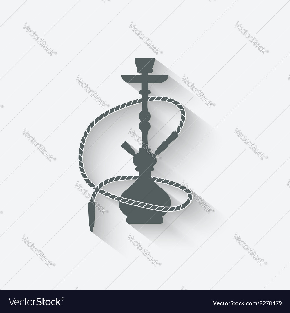 Hookah relaxation icon vector | Price: 1 Credit (USD $1)