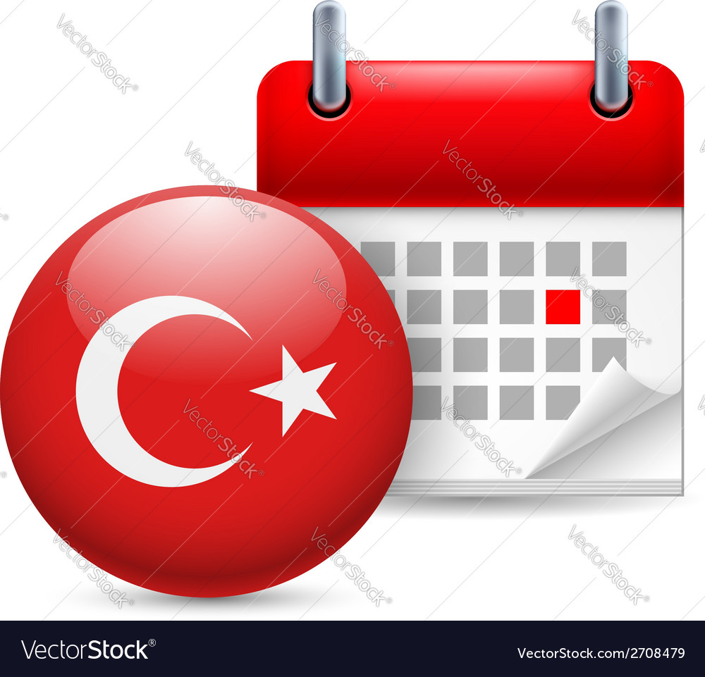 Icon of national day in turkey vector | Price: 1 Credit (USD $1)