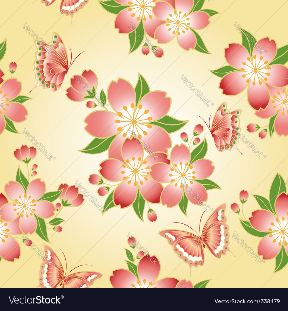 Oriental floral pattern vector   Price: 1 Credit (USD $1)