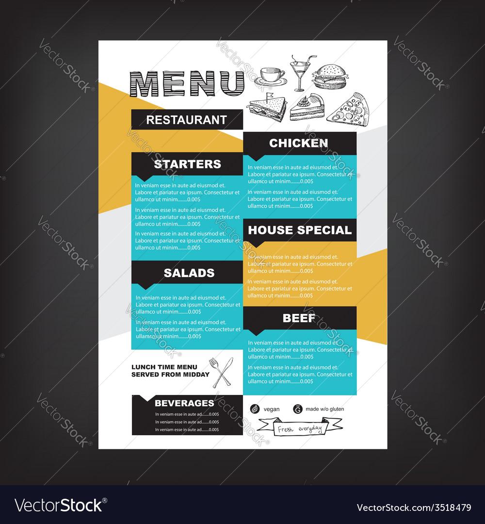 Restaurant cafe menu template design vector   Price: 1 Credit (USD $1)