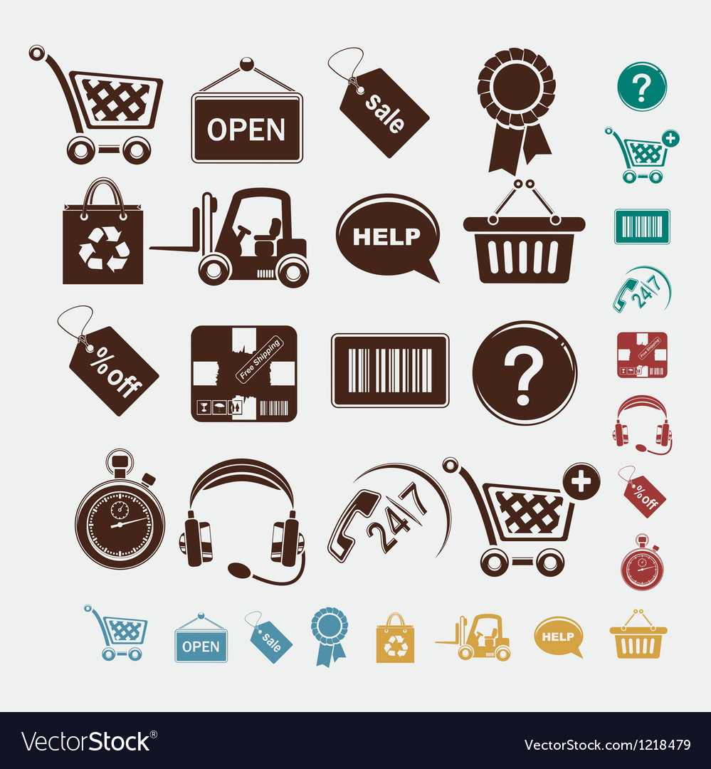 Shopping set of icons vector | Price: 1 Credit (USD $1)