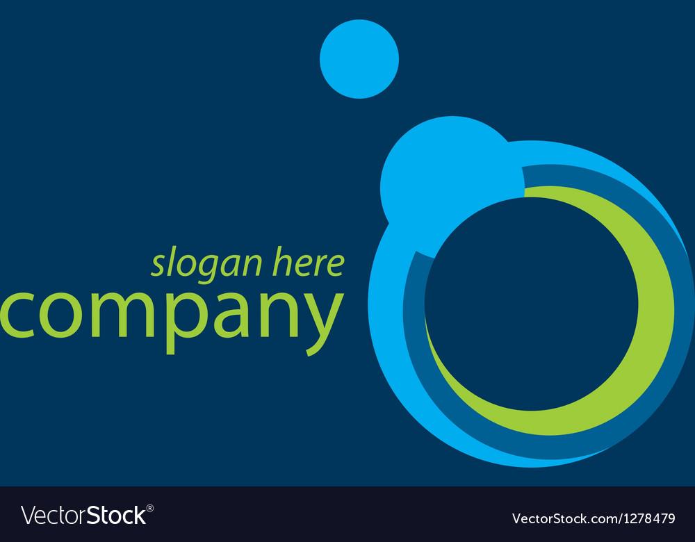 Technology blue logo vector | Price: 1 Credit (USD $1)