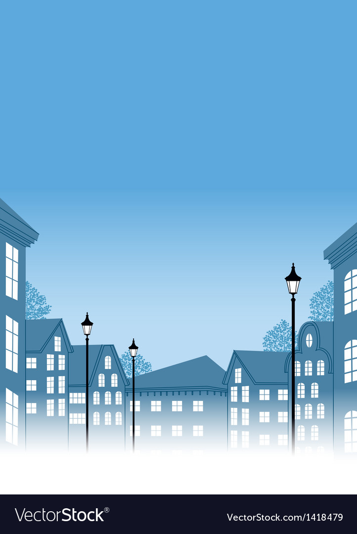 Townscape view vector | Price: 1 Credit (USD $1)