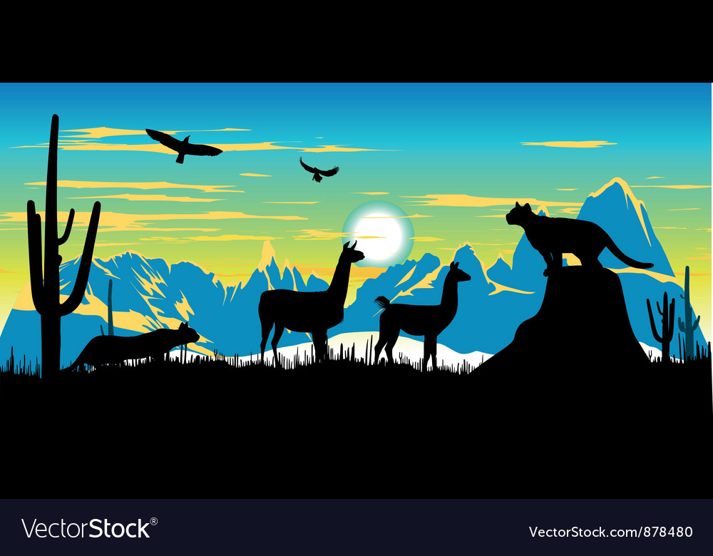 Argentinian wildlife background vector | Price: 1 Credit (USD $1)
