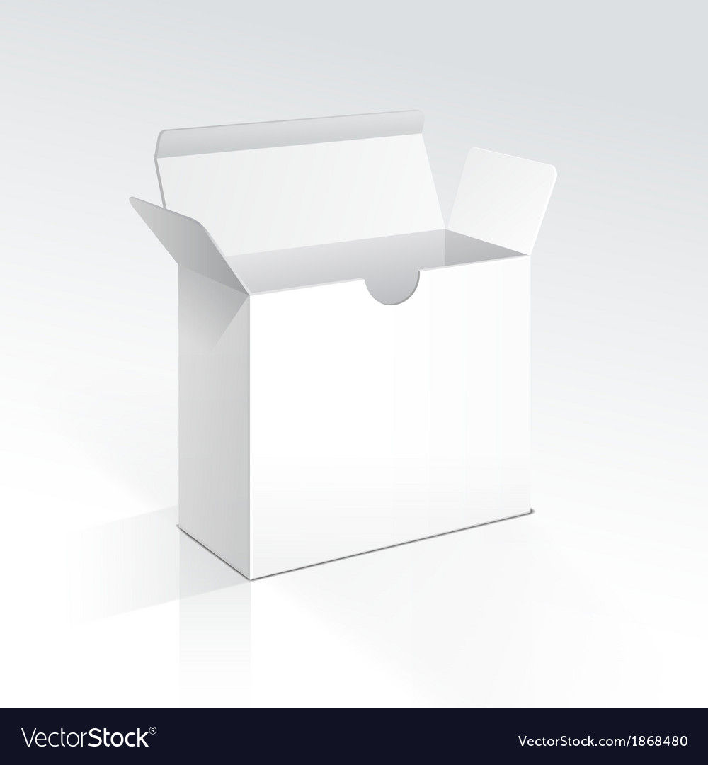 Blank open box vector | Price: 1 Credit (USD $1)