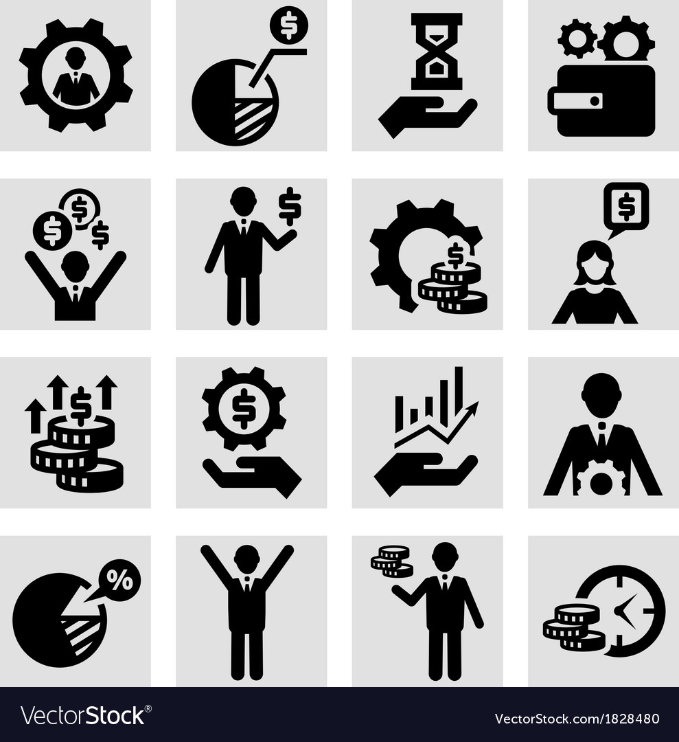 Business success icons vector | Price: 1 Credit (USD $1)