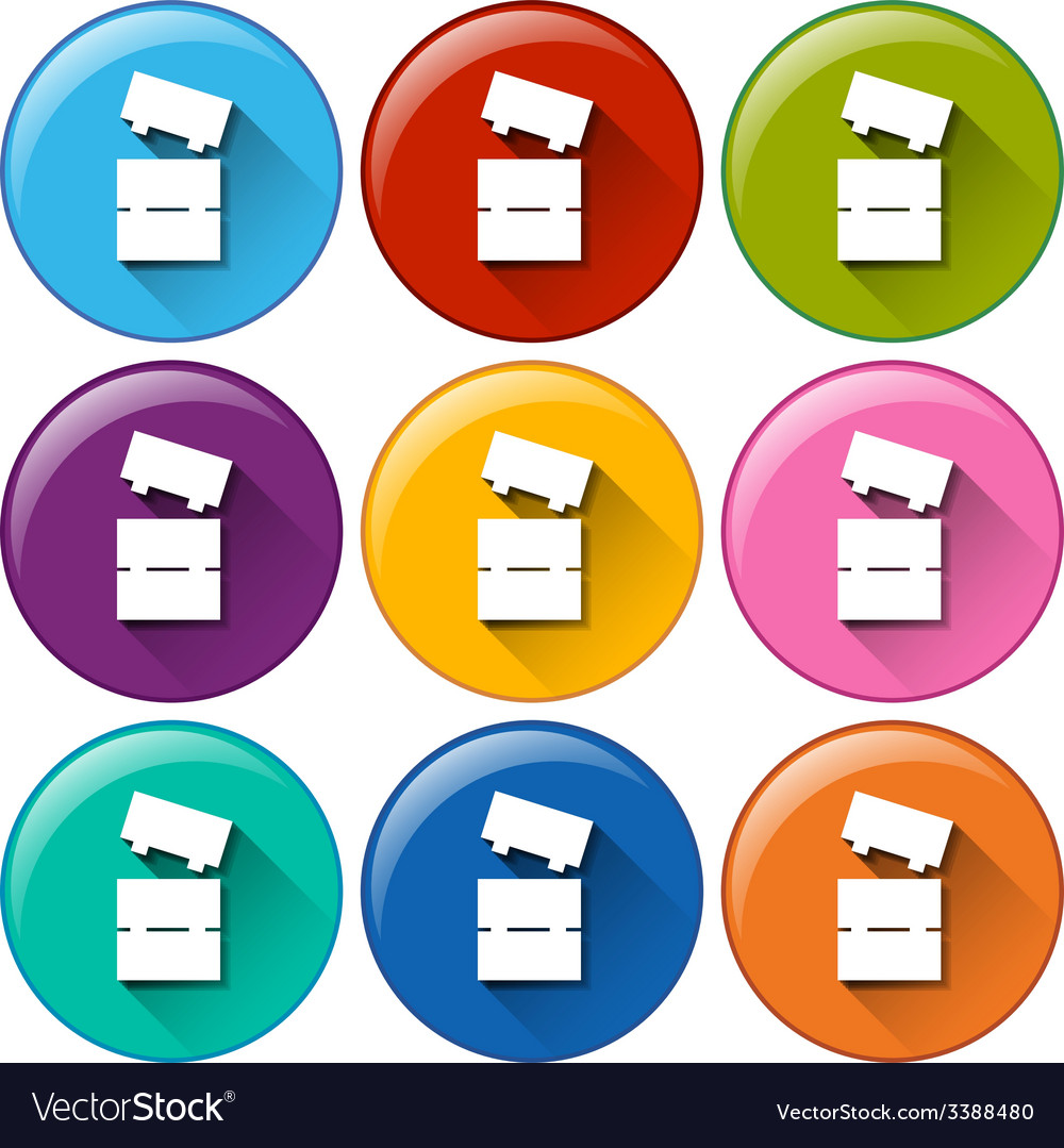 Buttons with toy blocks vector | Price: 1 Credit (USD $1)