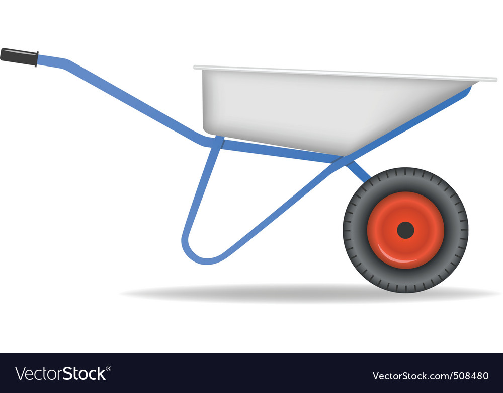 Cartoon wheelbarrow cart for dirt vector | Price: 1 Credit (USD $1)