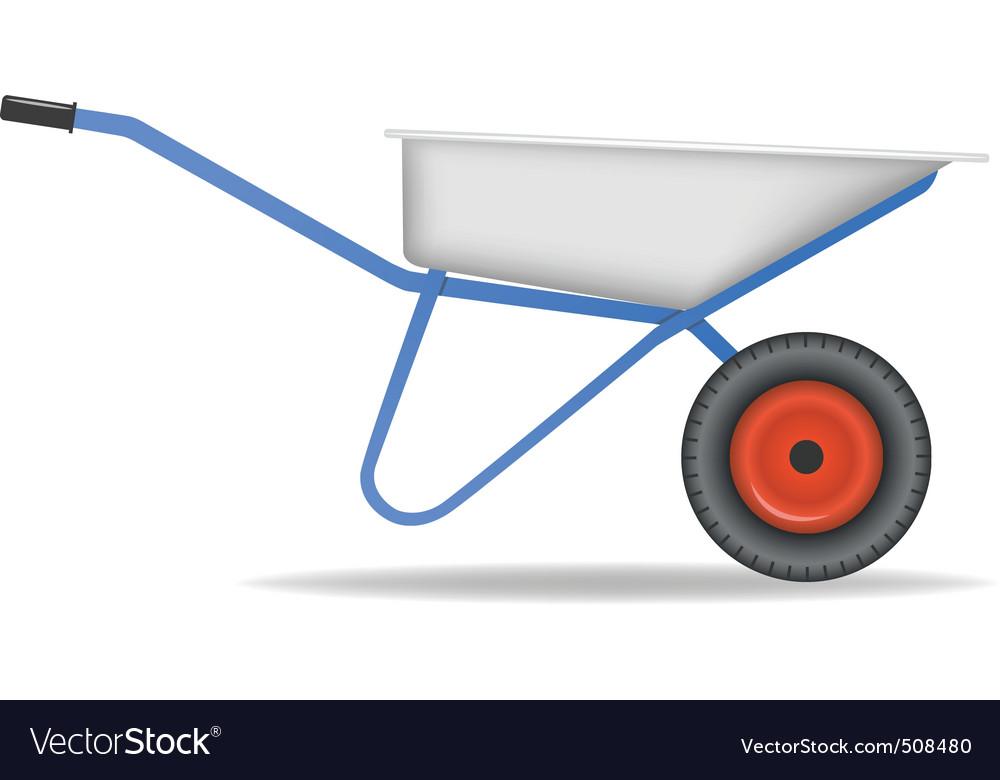 Cartoon wheelbarrow cart for dirt vector | Price: 1 Credit (USD $1)