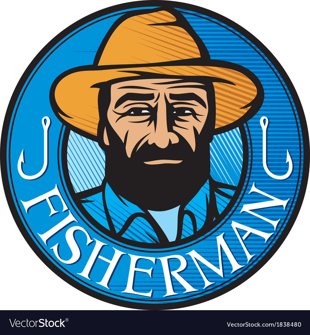 Fisherman sign vector | Price: 1 Credit (USD $1)