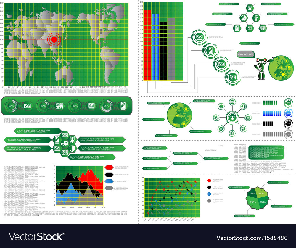Infographic computer vector | Price: 1 Credit (USD $1)