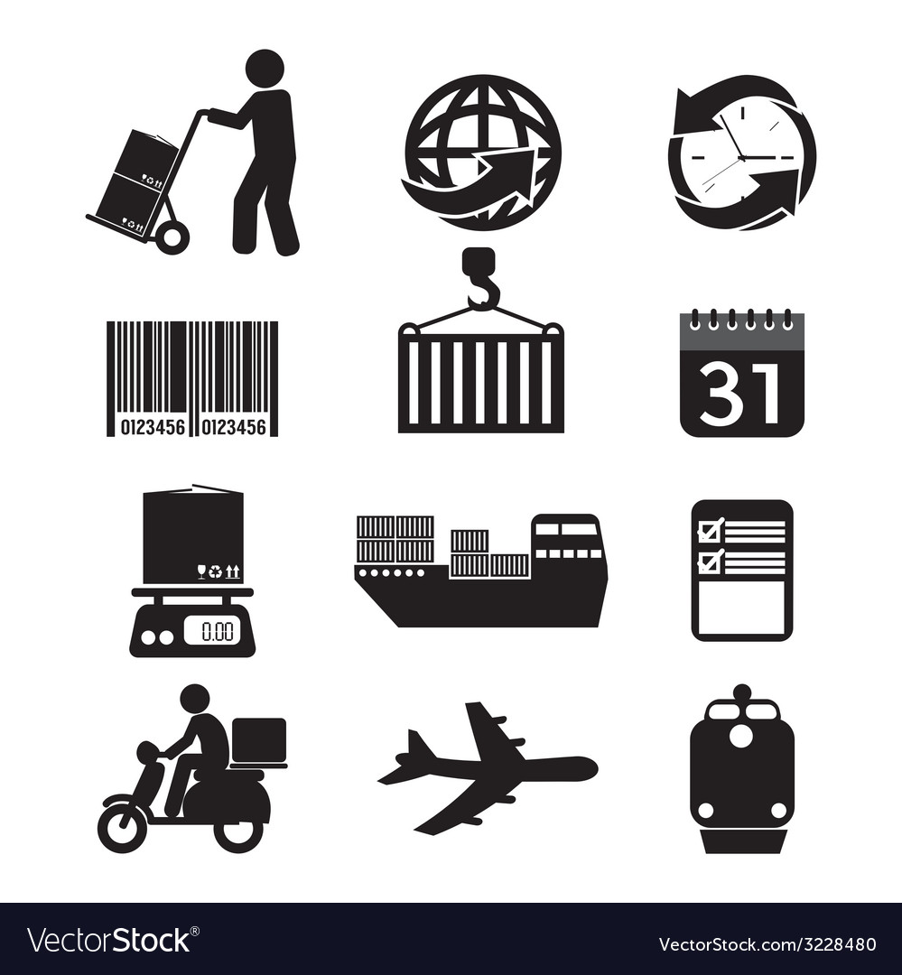 Logistics icon set graphic vector | Price: 1 Credit (USD $1)