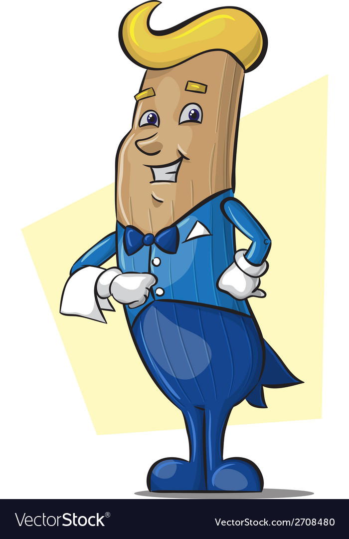 Mascot churros waiter character vector | Price: 1 Credit (USD $1)