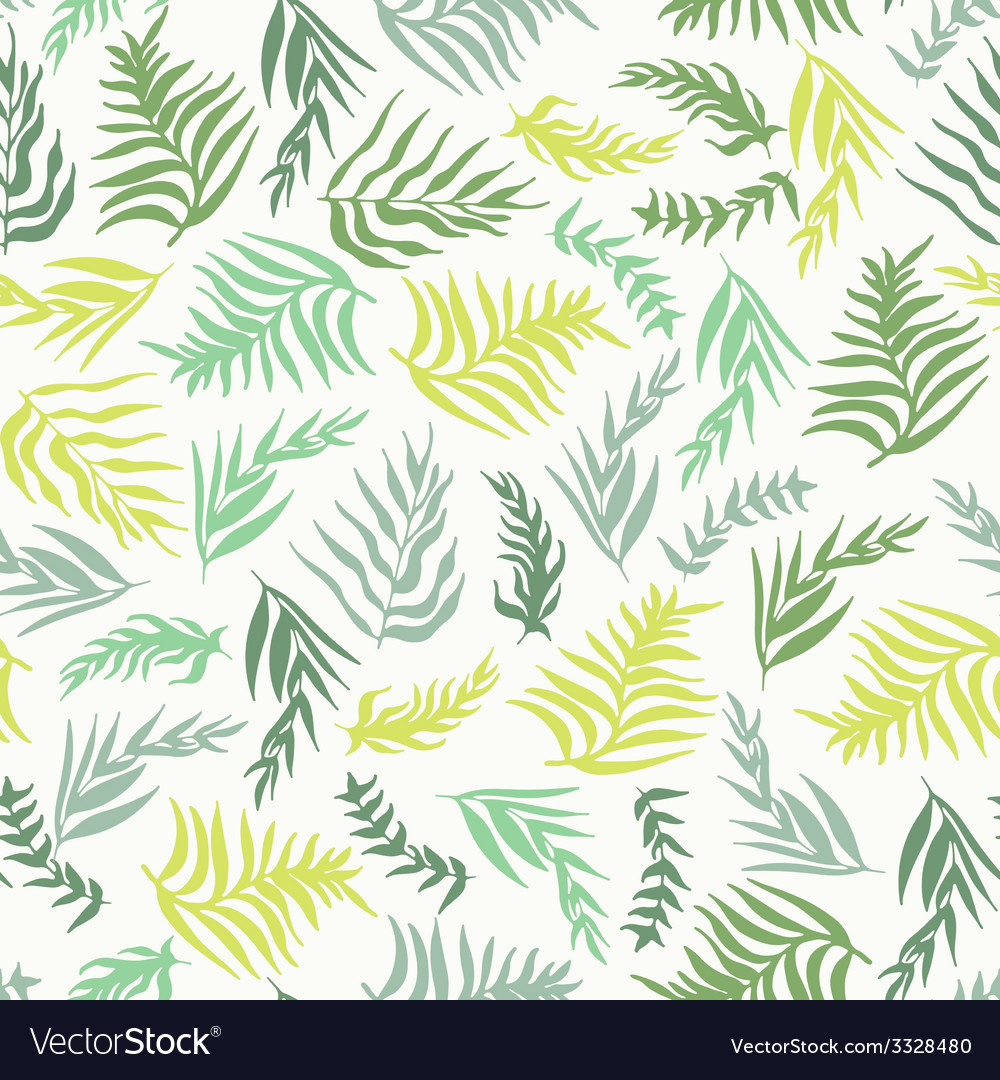 Palm leaves pattern vector | Price: 1 Credit (USD $1)