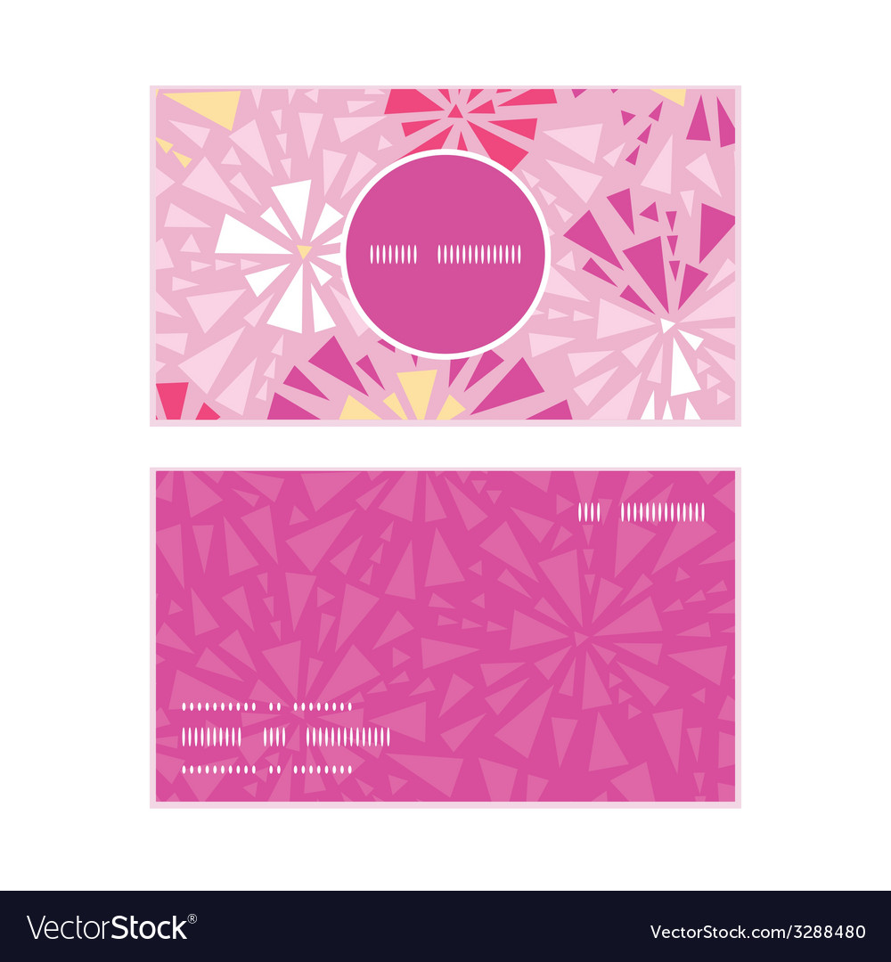 Pink abstract triangles vertical round frame vector | Price: 1 Credit (USD $1)