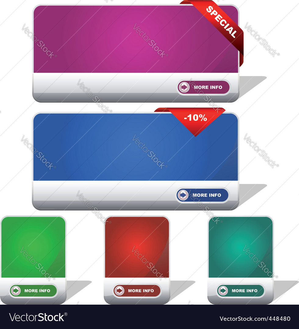 Set of sale banner vector | Price: 1 Credit (USD $1)