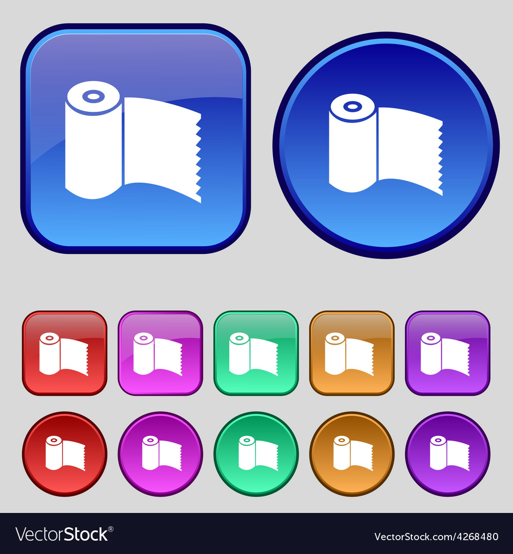 Toilet paper wc roll icon sign a set of twelve vector | Price: 1 Credit (USD $1)