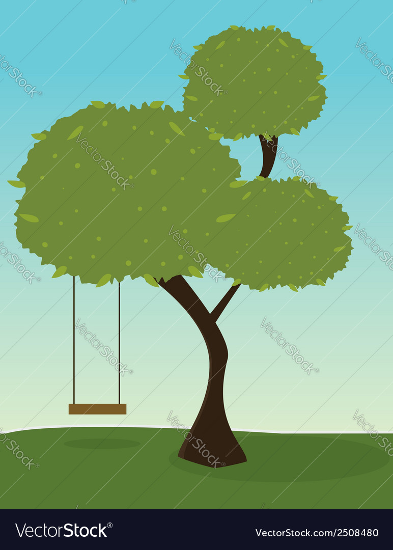 Tree with swing vector | Price: 1 Credit (USD $1)