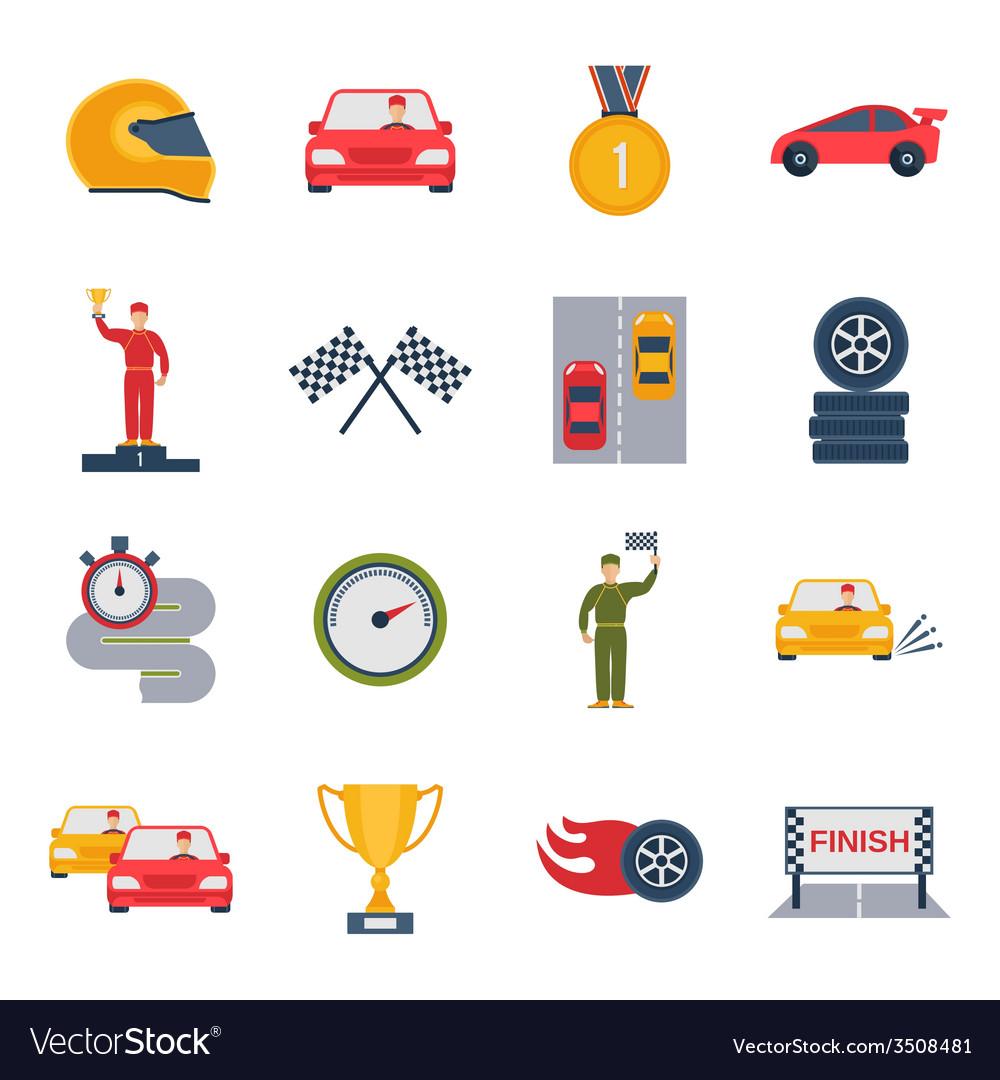 Auto sport icon flat vector | Price: 1 Credit (USD $1)