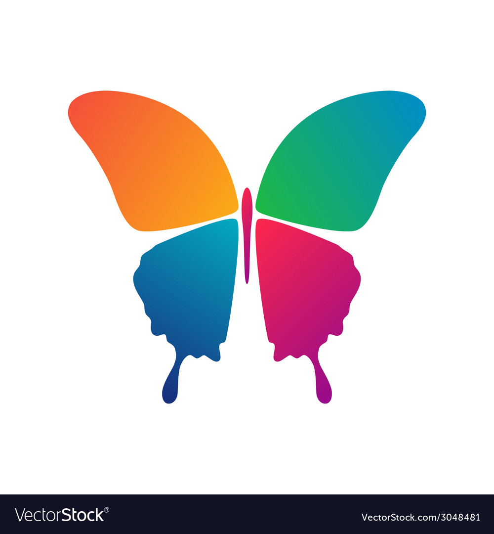 Butterfly conceptual icon vector | Price: 1 Credit (USD $1)