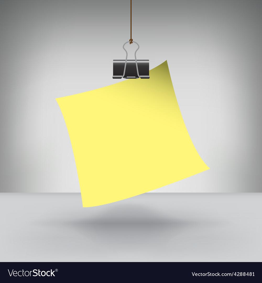 Clip note vector | Price: 1 Credit (USD $1)