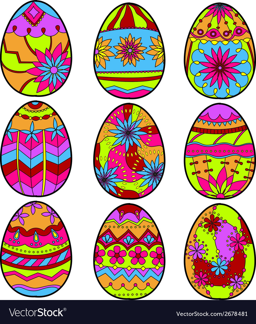 Colorful eggs vector   Price: 1 Credit (USD $1)