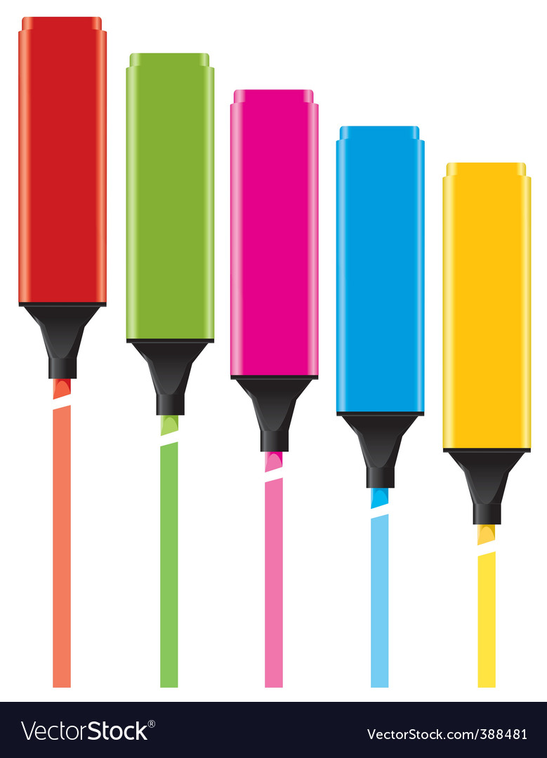 Colorful highlighters vector | Price: 1 Credit (USD $1)