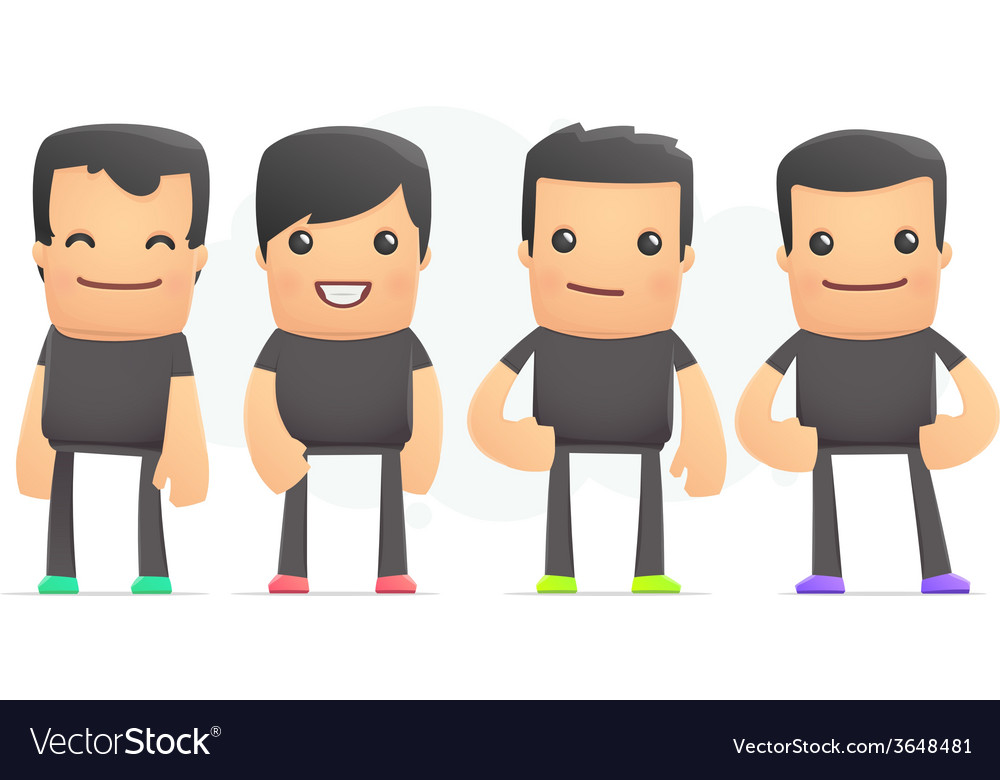 Guys in colored sneakers vector | Price: 1 Credit (USD $1)