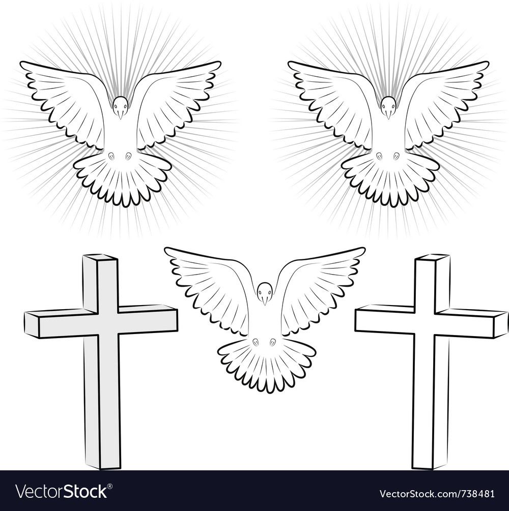 Holy ghost and cross vector | Price: 1 Credit (USD $1)