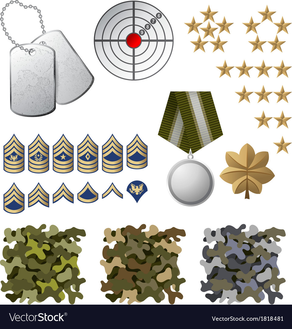 Military icons vector | Price: 3 Credit (USD $3)