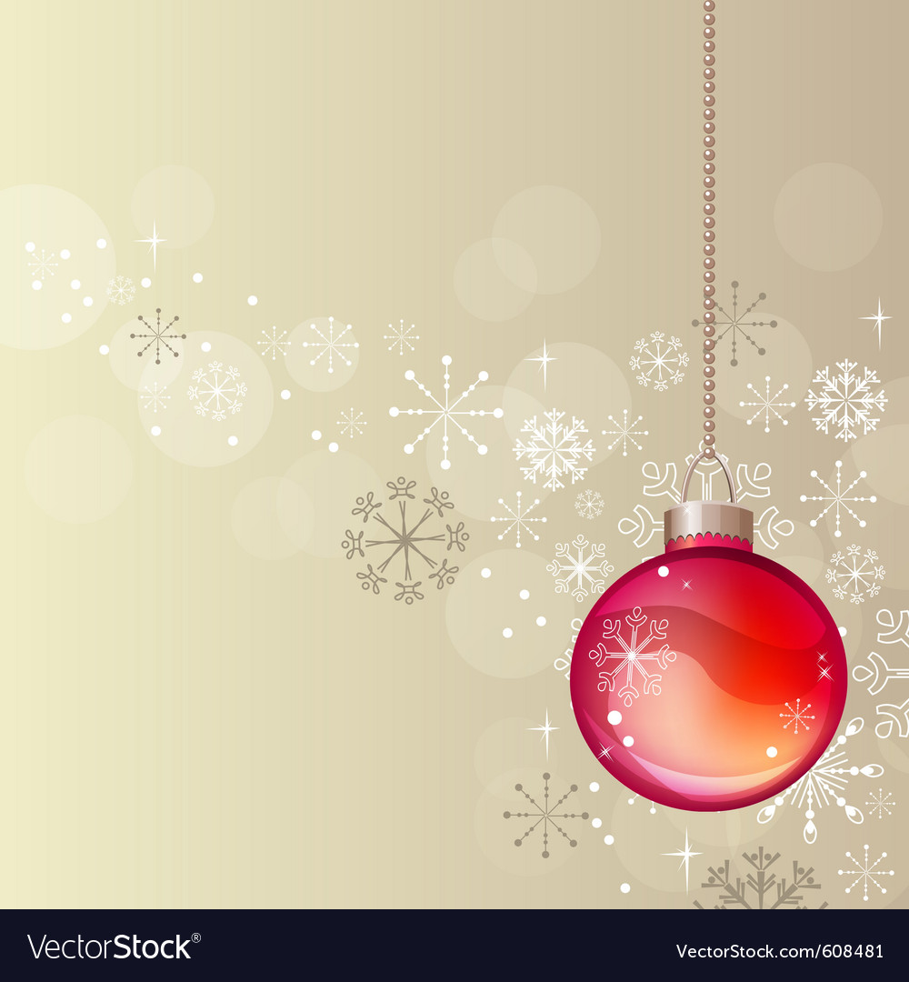 Pastel christmas background with hanging ball vector | Price: 1 Credit (USD $1)