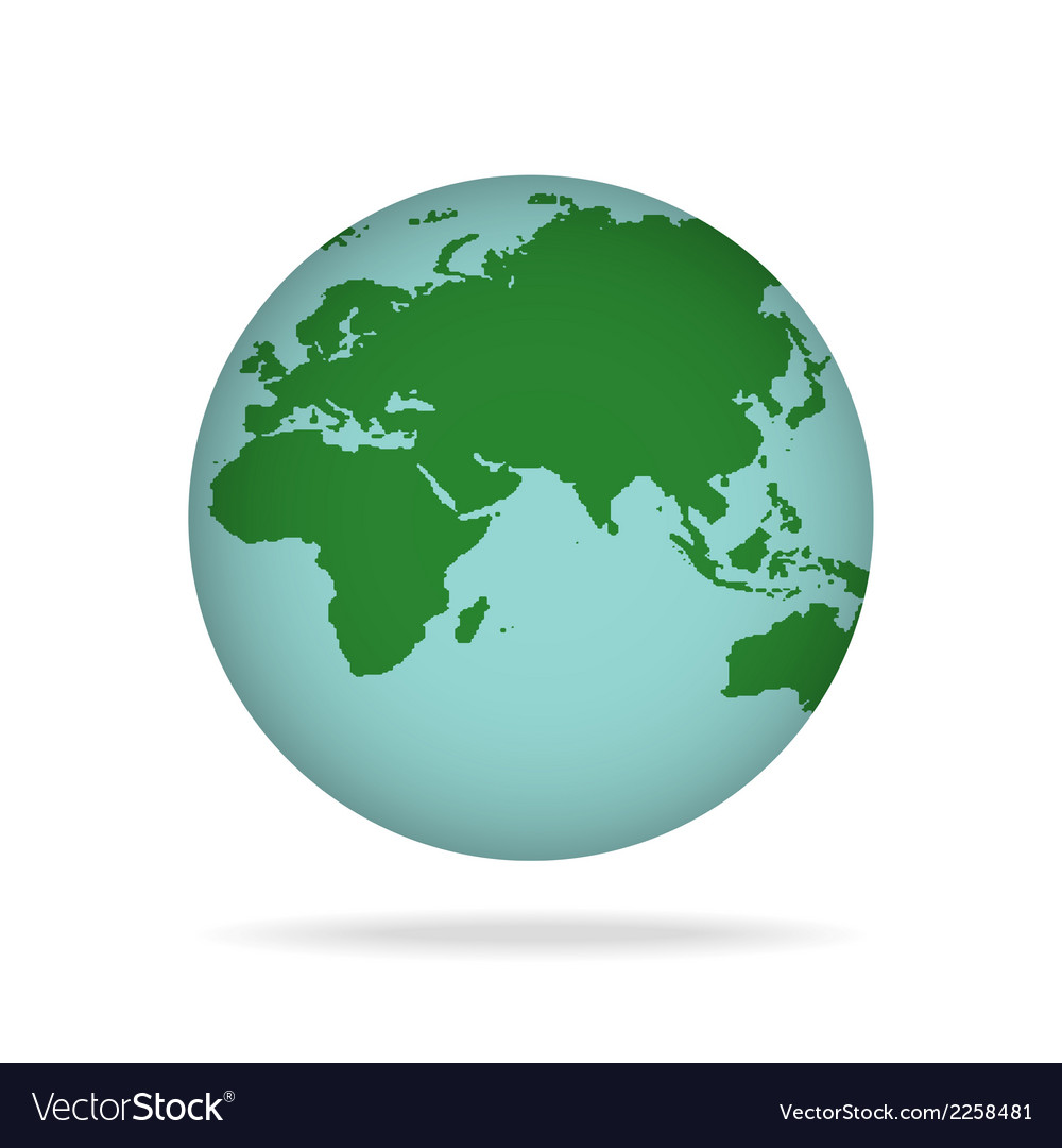 Planet earth vector | Price: 1 Credit (USD $1)