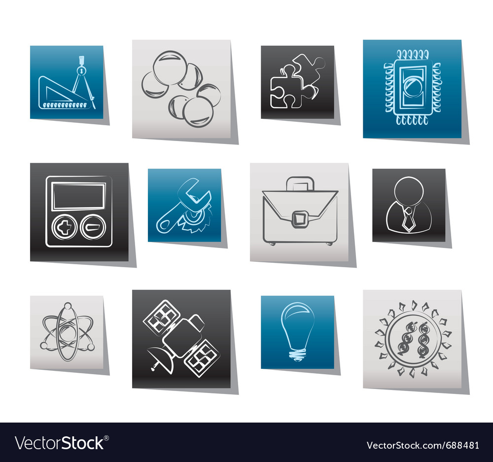 Science and research icons vector | Price: 1 Credit (USD $1)