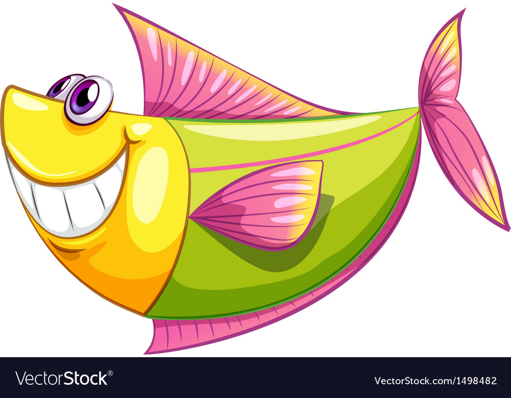 A smiling colorful aquatic fish vector | Price: 1 Credit (USD $1)